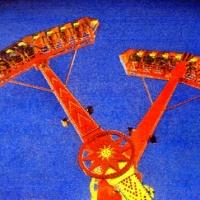Casein pigment print Carnival Kamikaze