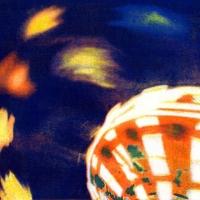 Casein pigment print Carnival Swing Ride No 3