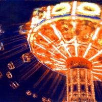 Casein pigment print Carnival Swing Ride