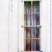 Casein pigment print The old window