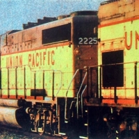 Gum bichromate Union Pacific 2225