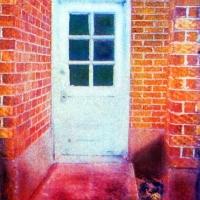Casein pigment print Door no 2