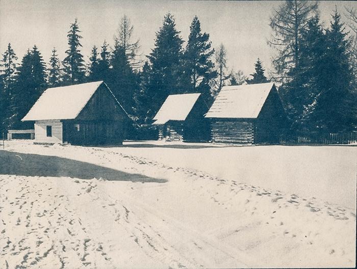 Cyanotype Slovak village 2