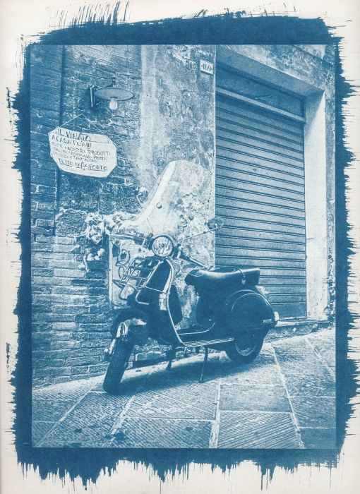 Cyanotype Vespa