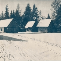 Cyanotype Slovak village 2
