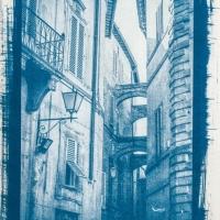 Cyanotype Tuscany street I