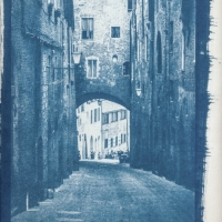 Cyanotype Tuscany street IV