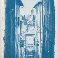 Cyanotype Tuscany street III
