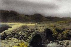 Colorized Bromoil Andre Devlaeminck Shiel Bridge, Loch Duig