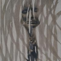 Coffe toned cyanotype Distracted Thinker