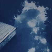 Cyanotype Pond Reflection