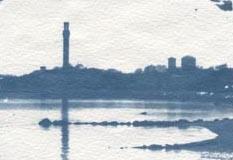 Cyanotype Monument Reflections