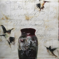 Pinhole handpainted Bird That Flutters