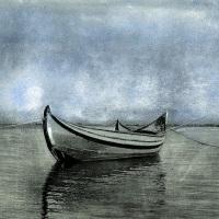 Bromoil-Boat-at-Aveiro-Bay