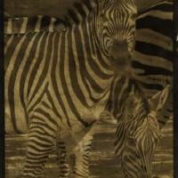 Palladium Three Gold Zebras