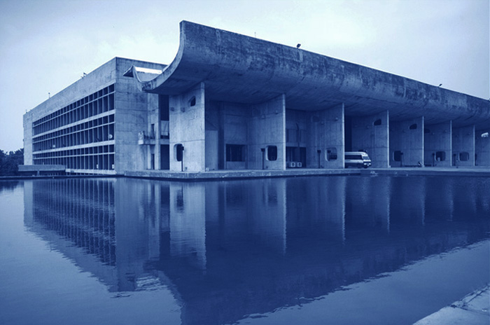 Corbusier's Parliment Building in Chandigarh, India