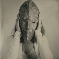 18 Wet Plate Collodion Masked Woman