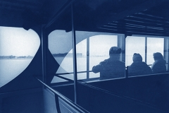 02 Cyanotype New York Statue Liberty Ferry