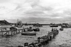 Carbon print Black sea