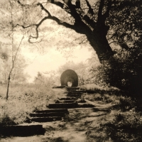Lith print Archway