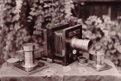 Wetplate collodion Camera Lenses Goldtoned