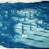 Cyanotype OK City Memorial