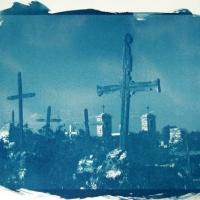 Cyanotype Terlingua cemetery