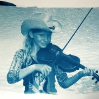 Cyanotype Zoe river fiddle
