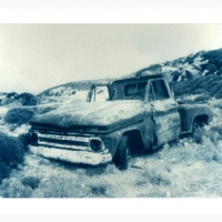 Cyanotype Wrecked car 2