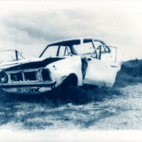 Cyanotype Wrecked car 3