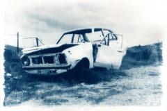 Cyanotype Wrecked car 3