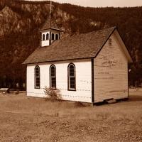 Rural churches of western Canada.