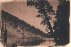 Cyanotype toned Iron lake