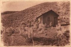 Cyanotype toned Shepherd hut