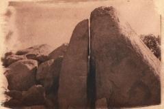 Cyanotype toned Split rock