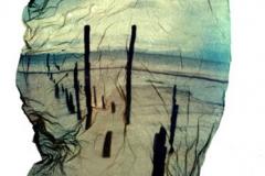Polaroid emulsion lift Beach3