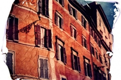 Polaroid emulsion lift Rome
