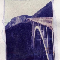 Polaroid emulsion lift Highway 1