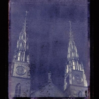 Polaroid transfer Notre dame cathedral