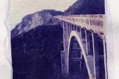 Polaroid emulsion lift Highway 1