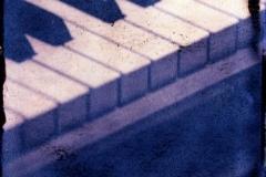Polaroid transfer Piano