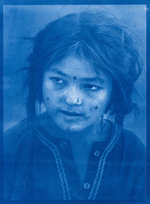 Cyanotype-PAKISTANI-GIRL