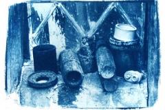 Cyanotype Old_Pipes_Montsalvat