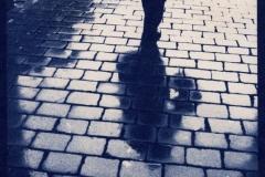 Cyanotype Shadow of Man