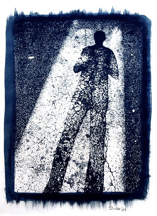 Enrico Maria Giuga, Italia, White Stripe Self Portrait