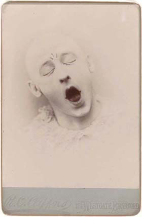 """Fritz Young as """"Pierrot,"""" by R.C. Clifford, Bromide print circa 1895 (Collection of Richard and Christine Rydell."""