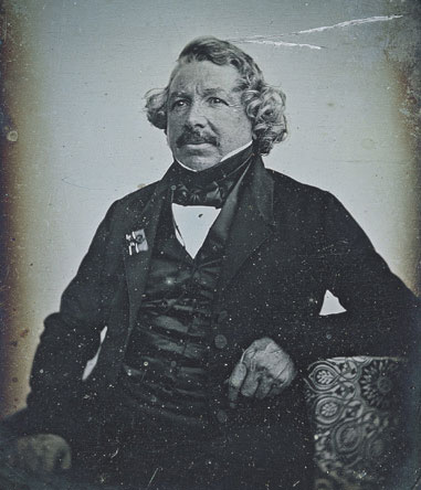 Daguerreotype Portrait of Louis-Jacques Mandé Daguerre by Jean-Baptiste Sabatier-Blot, 1844