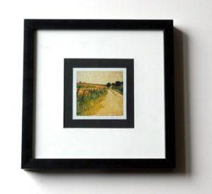 A framed polaroid