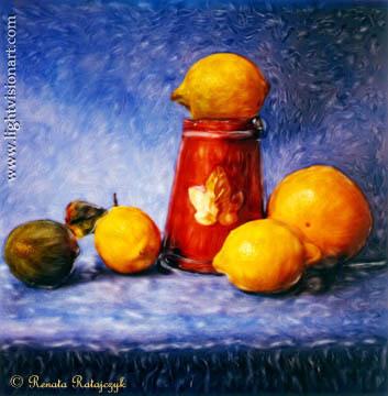 Citrus Fruits © Renata Ratajczyk. Polaroid SX-70.