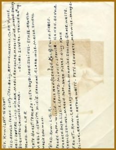 Figure 5.3. The front side of the paper shows how the ghosted image has bled through to the other side. The color is not nearly as intense as the side that was in contact with the platinum print.
